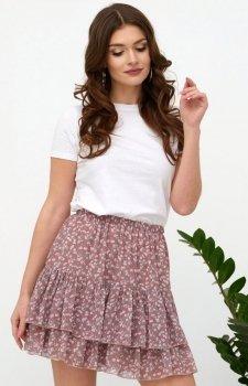 Szyfonowa mini spódniczka w kwiaty 0036/R04