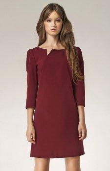 *Nife S39 sukienka bordowa