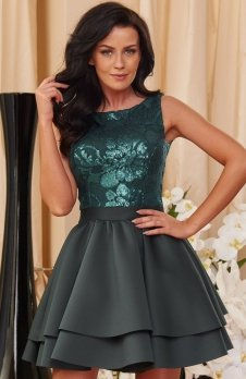 Roco 0161 sukienka zielona