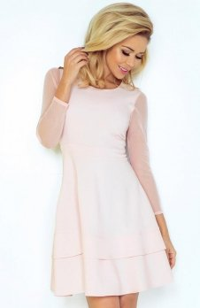 *SAF 141-4 sukienka pastelowy róż