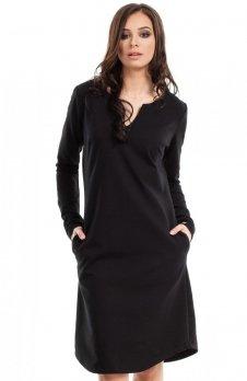 BE B017 sukienka czarna