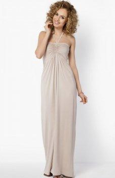Makadamia 024 sukienka beżowa