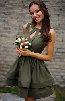 *Roco R-198 sukienka oliwkowa
