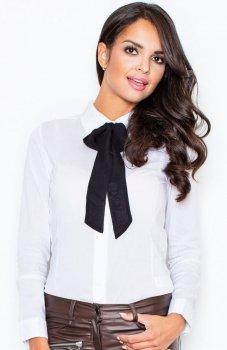 *Figl M180 koszula biało-czarna