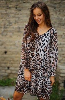 *Roco 0217 sukienka panterka