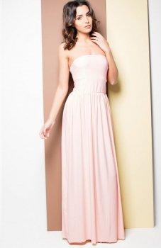 Katrus K252 sukienka pudrowy róż