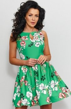 Roco 0203 sukienka zielona