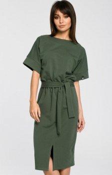 BE B062 sukienka zielona