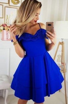 Bicotone 2142-05 sukienka chabrowa