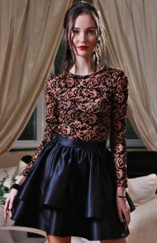 Roco 0176 sukienka karmelowo-czarna