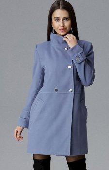 Figl M623 płaszcz niebieski