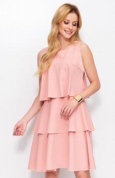 *Makadamia M381 sukienka brudny róż