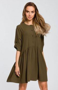 Luźna sukienka khaki M427