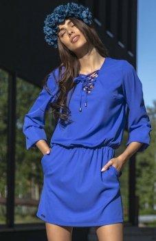 Fobya F544 sukienka chabrowa