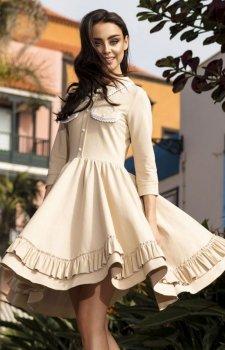 Leminiade L235 sukienka beżowa