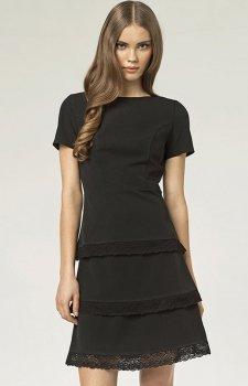 *Nife S43 sukienka czarna