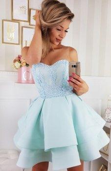 Bicotone 2138-15 sukienka miętowa