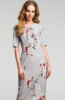 Moe M383 sukienka szara