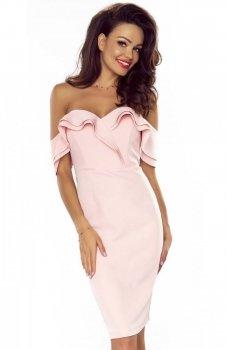 Bergamo Cleo sukienka pudrowy róż