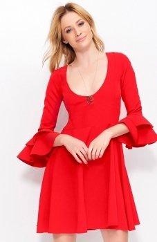 Makadamia M393 sukienka czerwona