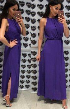 Elegancka sukienka rzymianka fioletowa