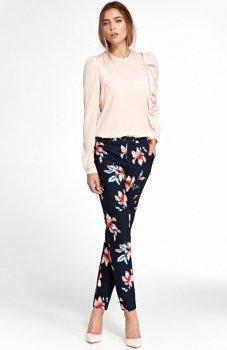 Nife SD33K/G spodnie w kwiaty granatowe