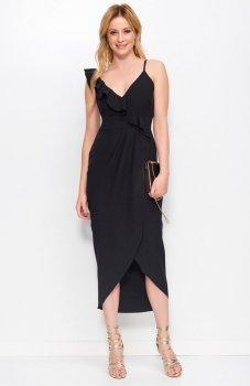 *Makadamia M396 sukienka czarna