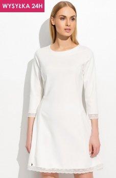 *Makadamia M303 sukienka ecru