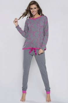 Italian Fashion Grey dł.r. dł.sp. piżama