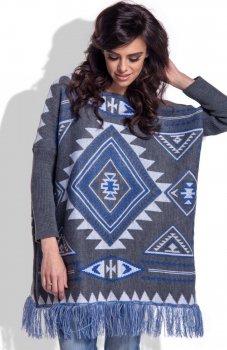 Fobya F349 sweter grafitowy