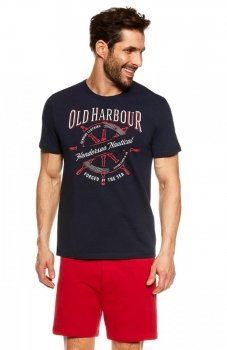 Henderson Just 37120-59X piżama granatowo-czerwona