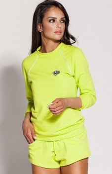 Dursi Todi bluza damska limonkowo-żółta