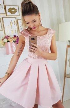 Bicotone 2141-12 sukienka różowa