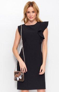 *Makadamia M400 sukienka czarna