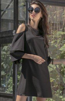 Fobya F543 elegancka sukienka czarna