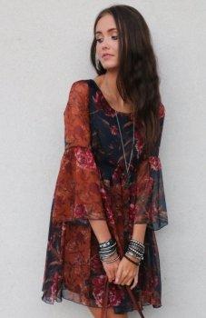 *Roco 216 sukienka kwiatowy wzór
