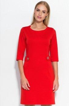 Makadamia M325 sukienka czerwona