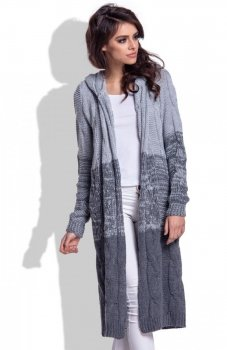 Fobya F337 ombre sweter szary