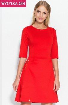 *Makadamia M316 sukienka czerwona