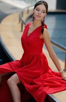 Roco 0213 sukienka czerwona