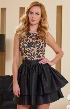 Roco 0173 sukienka beżowo-czarna