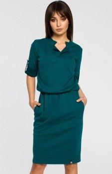 BE B056 sukienka zielona