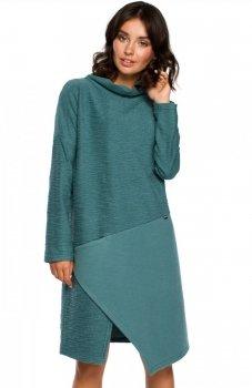 BE B098 sukienka zielona