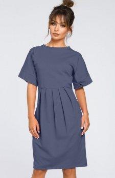 BE B045 sukienka niebieska