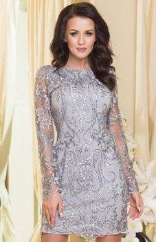 Roco 0122 sukienka szara