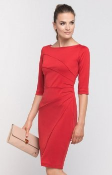 Lanti SUK146 sukienka czerwona