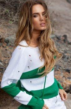 FIMFI I296 sweter zielony