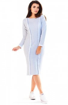 Awama A197 sukienka szara