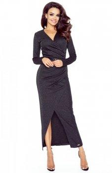 Bergamo 75-06 sukienka czarna błysk