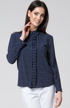 Mosali M037 koszula w groszki